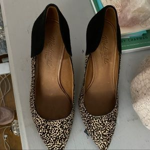 Madewell Shoes - EUC Madewell Maddie heel in spotted calf hair